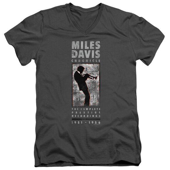 Miles Davis Miles Silhouette Short Sleeve Adult V Neck T-Shirt