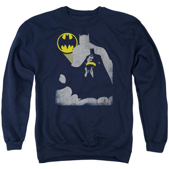 Batman Bat Knockout Adult Crewneck Sweatshirt