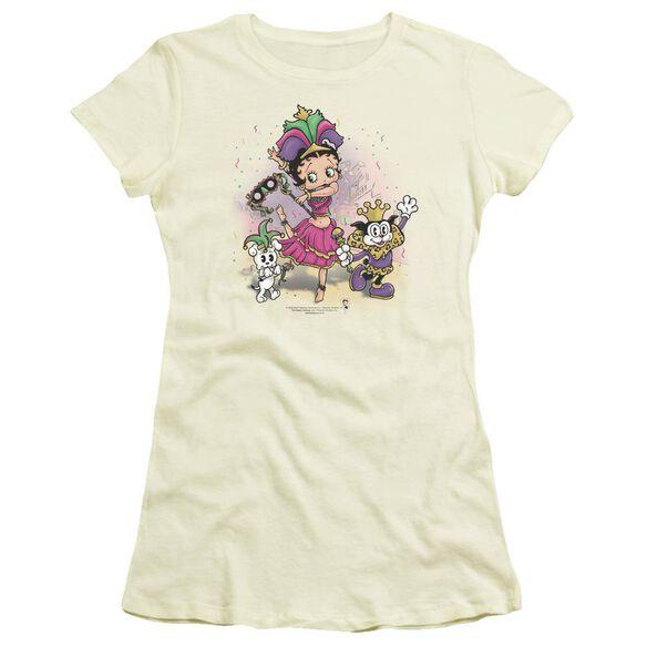 Betty Boop Celebration Short Sleeve Junior Sheer T-Shirt