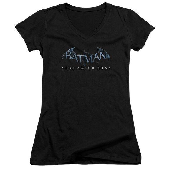 Batman Arkham Origins Logo Junior V Neck T-Shirt