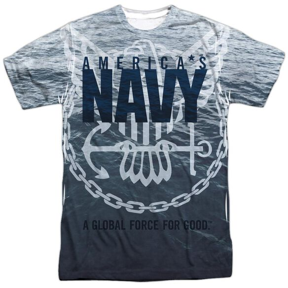 Navy Force For Good Short Sleeve Adult Poly Crew T-Shirt