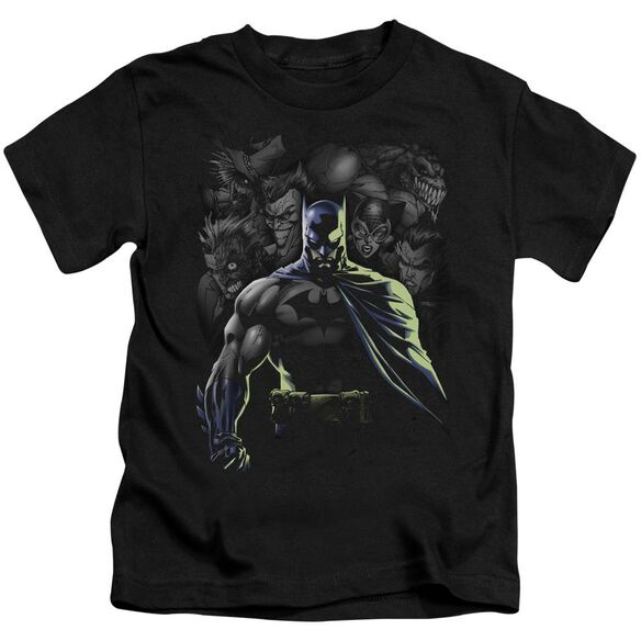 Batman Villains Unleashed Short Sleeve Juvenile Black T-Shirt
