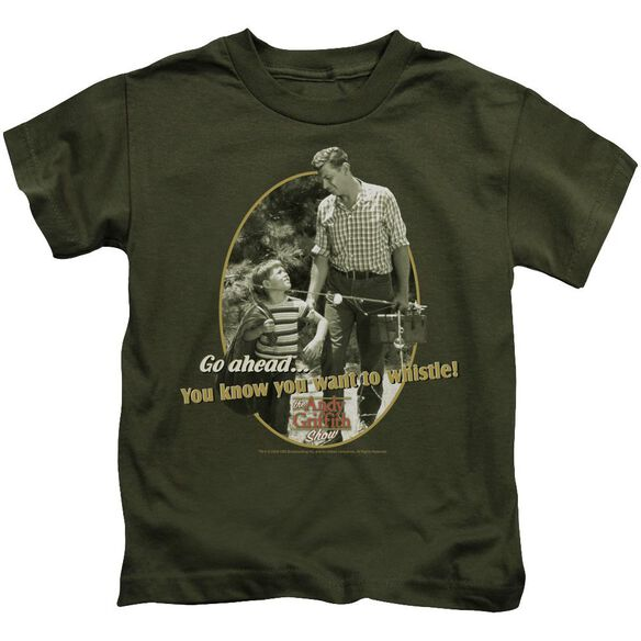 Andy Griffith Gone Fishing Short Sleeve Juvenile Military T-Shirt