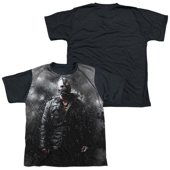 Dark Knight Rises Bane In Rain Short Sleeve Youth Front Black Back T-Shirt