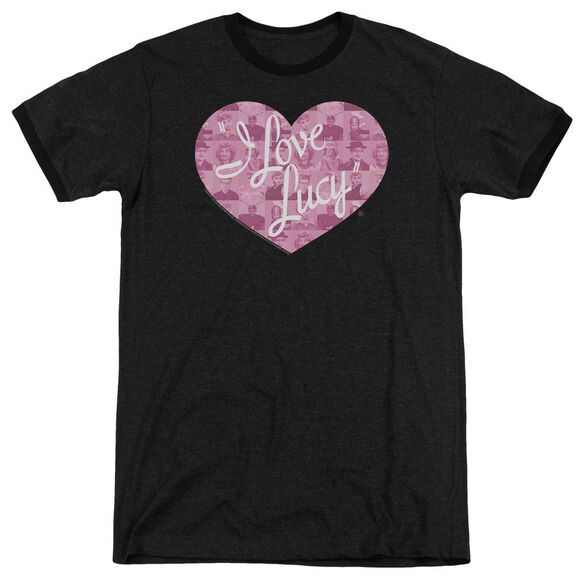 I Love Lucy Many Moods Logo Adult Heather Ringer