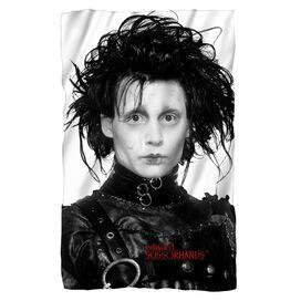 Edward Scissorhands Heads Up Fleece Blanket