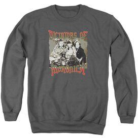 Three Stooges Moronica - Adult Crewneck Sweatshirt - Charcoal