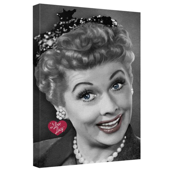 I Love Lucy Portrait Quickpro Artwrap Back Board