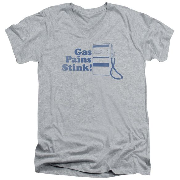 Gas Pains Stink Short Sleeve Adult V Neck Athletic T-Shirt