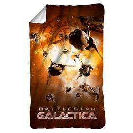 Bsg (New) Dog Fight Fleece Blanket