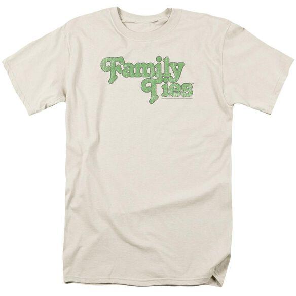 Family Ties Logo Short Sleeve Adult Cream T-Shirt