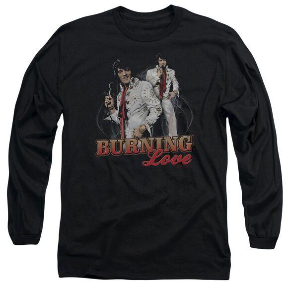 Elvis Presley Burning Love Long Sleeve Adult T-Shirt