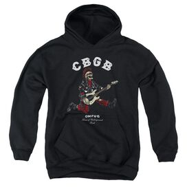 Cbgb Skull Jump Youth Pull Over Hoodie