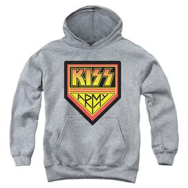 Kiss Army Logo-youth Pull-over Hoodie - Heather
