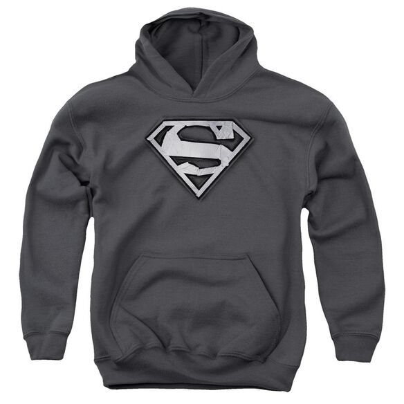 Superman Duct Tape Shield Youth Pull Over Hoodie