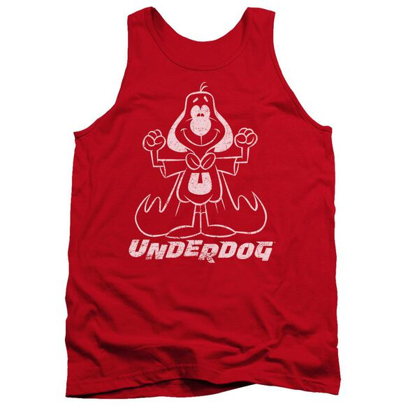 Underdog Outline Under Adult Tank