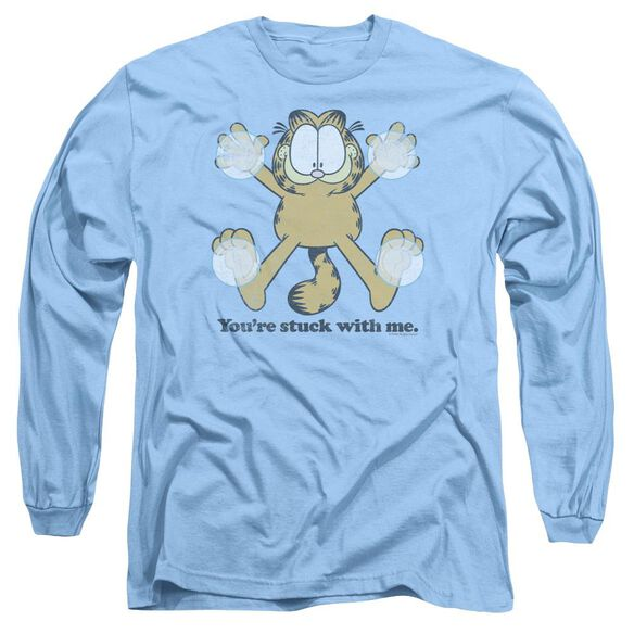 GARFIELD STUCK - L/S ADULT 18/1 - CAROLINA BLUE T-Shirt