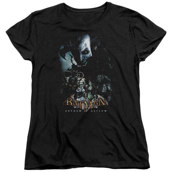 BATMAN AA FIVE AGAINST ONE - S/S WOMENS TEE - BLACK T-Shirt