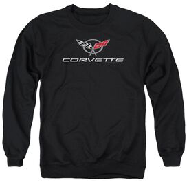 Chevrolet Corvette Modern Emblem Adult Crewneck Sweatshirt