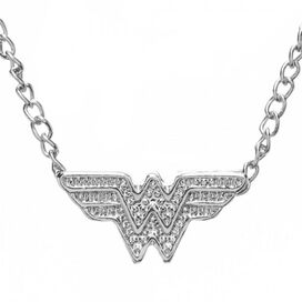 Wonder Woman Embossed Necklace Earrings Jewelry Set