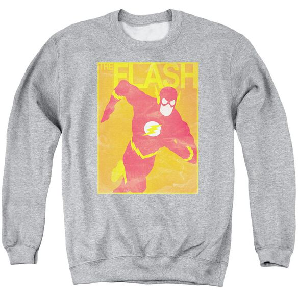 Jla Simple Flash Poster Adult Crewneck Sweatshirt Athletic