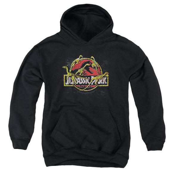 Jurassic Park Something Has Survived Youth Pull Over Hoodie