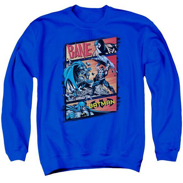 Batman Epic Battle - Adult Crewneck Sweatshirt - Royal Blue