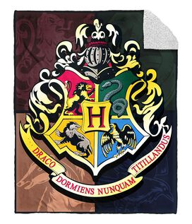 Harry Potter Hogwarts Crest Sherpa Blanket