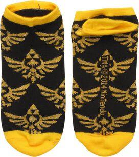 Zelda Gold Crests Black Low Cut Socks