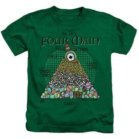 Elf Food Pyramid Short Sleeve Juvenile Kelly Green T-Shirt