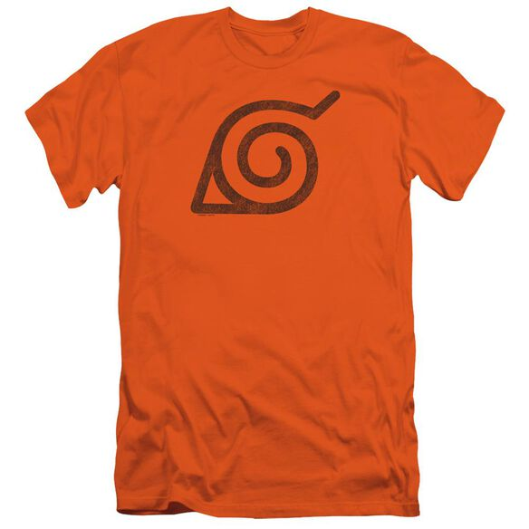 Naruto Shippuden Distressed Leaves Symbol Short Sleeve Adult T-Shirt