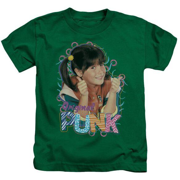 Punky Brewster Original Punk Short Sleeve Juvenile Kelly Green T-Shirt