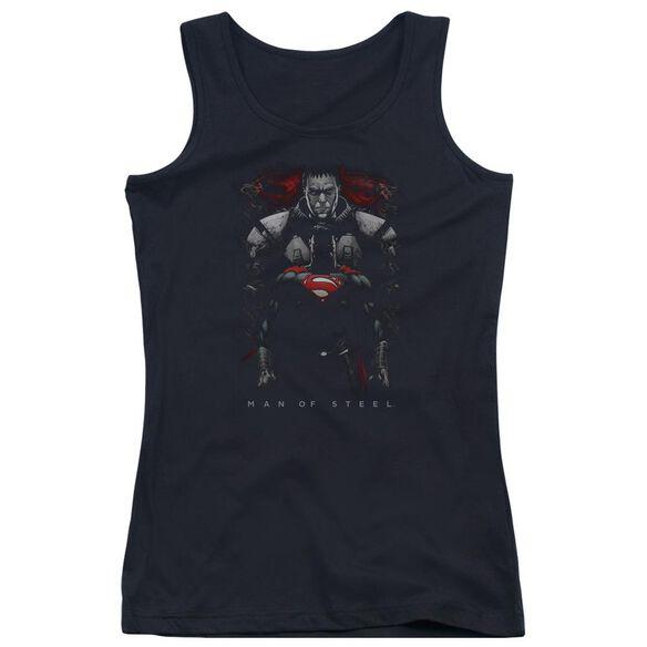 Man Of Steel Man Behind Juniors Tank Top