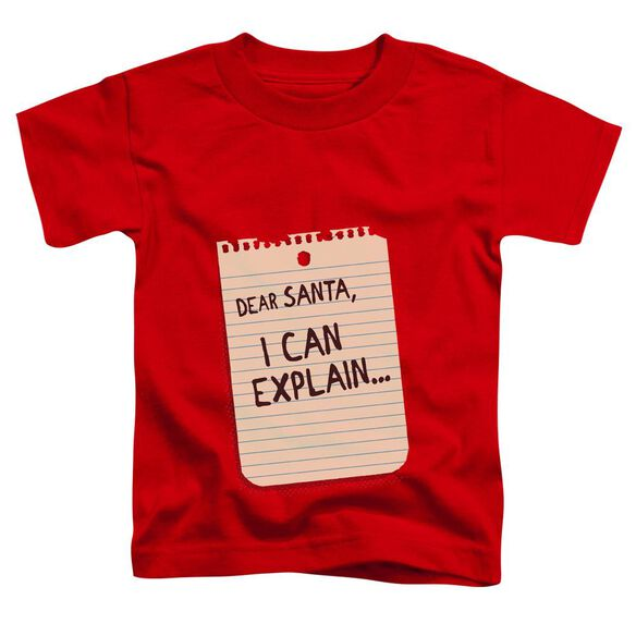 Note Short Sleeve Toddler Tee Red Sm T-Shirt
