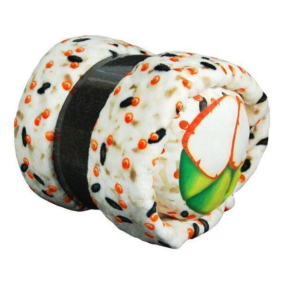 Crab & Avocado Sushi Roll Pillow & Throw Blanket