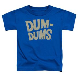 Dum Dums Distressed Logo Short Sleeve Toddler Tee Royal Blue Lg T-Shirt