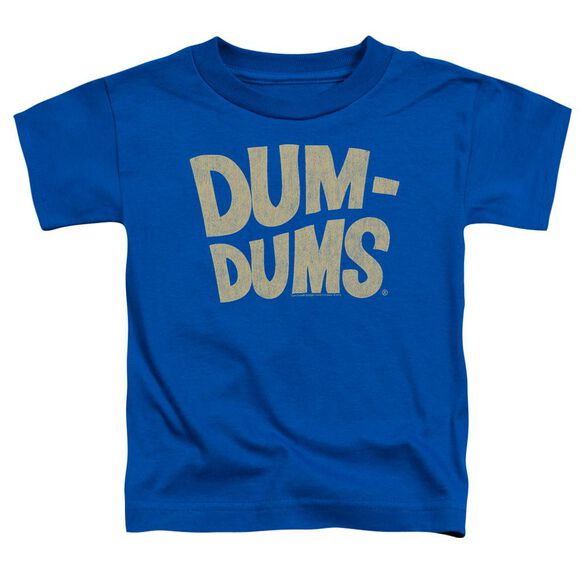 Dum Dums Distressed Logo Short Sleeve Toddler Tee Royal Blue Lg T-Shirt