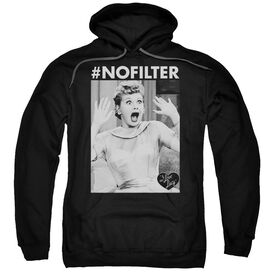 I Love Lucy No Filter Adult Pull Over Hoodie