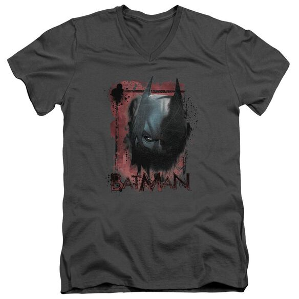 Dark Knight Rises Fear Me Short Sleeve Adult V Neck T-Shirt