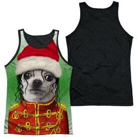 Pets Rock Christmas Pop Adult Poly Tank Top Black Back
