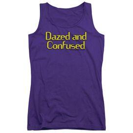 Dazed And Confused Dazed Logo - Juniors Tank Top - Purple