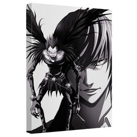 Death Note Ryuk Light Canvas Wall Art With Back Board