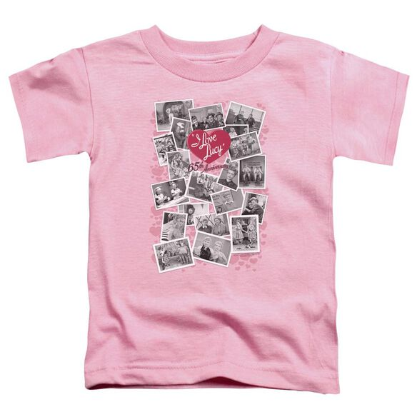 I Love Lucy 65 Th Anniversary Short Sleeve Toddler Tee Pink T-Shirt