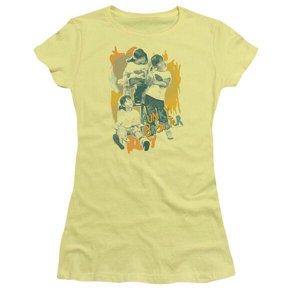Punky Brewster Tri Punky Short Sleeve Junior Sheer T-Shirt