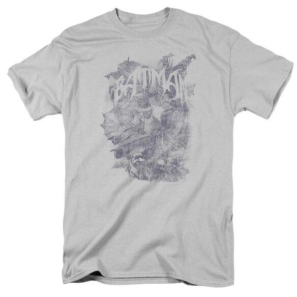 Batman Pencil Bat Collage Short Sleeve Adult T-Shirt