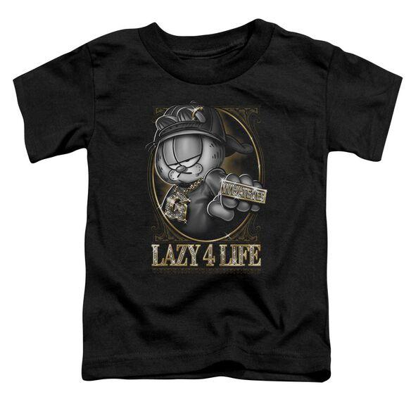 GARFIELD LAZY 4 LIFE - S/S TODDLER TEE - BLACK - T-Shirt