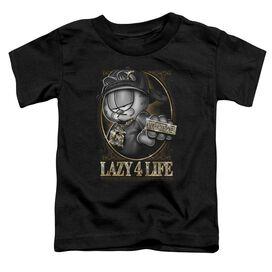 Garfield Lazy 4 Life Short Sleeve Toddler Tee Black Sm T-Shirt