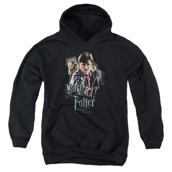 Harry Potter Deathly Hollows Cast Youth Pull Over Hoodie
