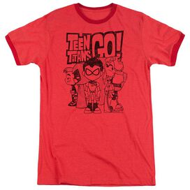Teen Titans Go Team Up Adult Ringer Red
