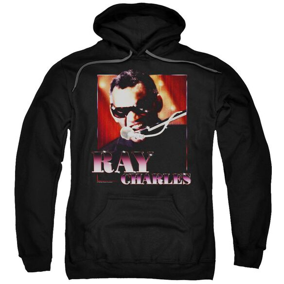 Ray Charles Sing It Adult Pull Over Hoodie Black